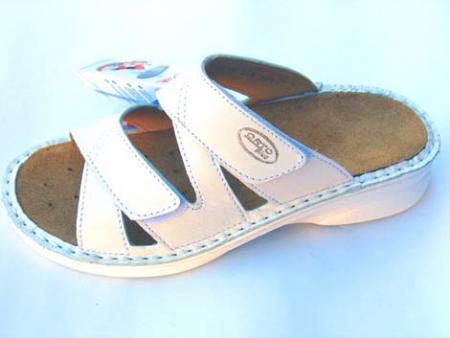 Sandále Orto Plus vzor 1510/10/bílé/ stélka vytahovací