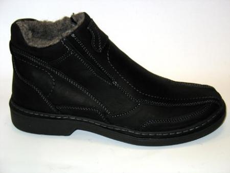 Orto Plus vzor 510 pánská zimní kožená obuv/černá