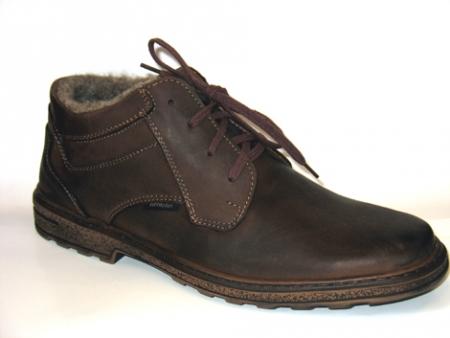 Orto Plus Pánská zimní obuv  - hnědá vzor 417